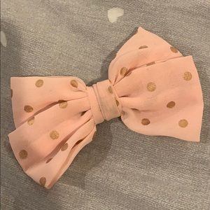 CLEARANCE!!! pink and gold polka dot hair bow